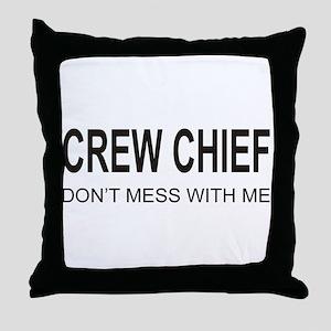 Crew Chief Throw Pillow