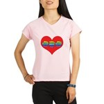 Mom Inside Big Heart Performance Dry T-Shirt
