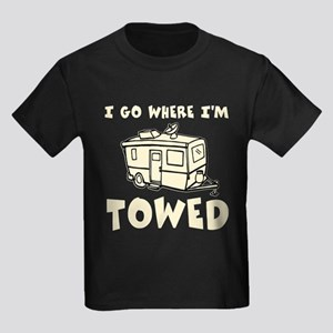 Towed Trailer Kids Dark T-Shirt