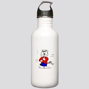 Clarinet Cat Stainless Water Bottle 1.0L