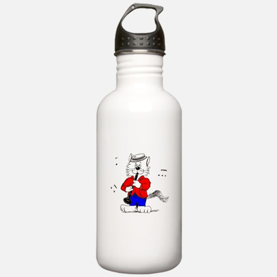 Clarinet Cat Water Bottle