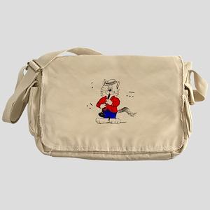 Clarinet Cat Messenger Bag