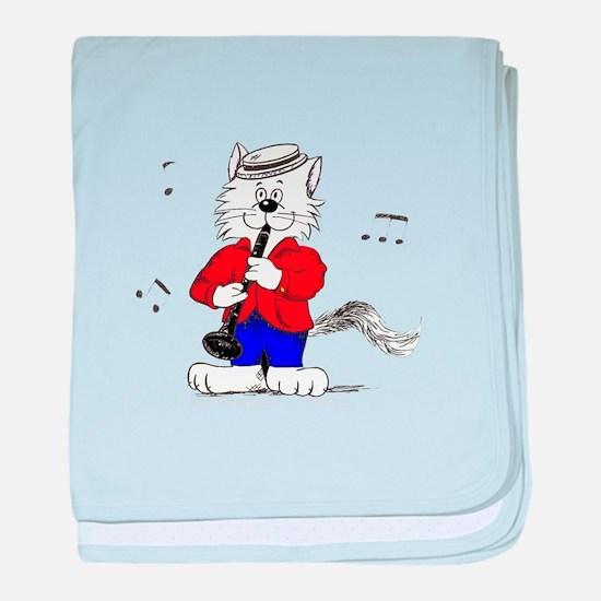 Clarinet Cat baby blanket