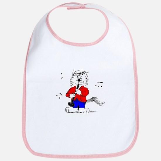 Clarinet Cat Bib
