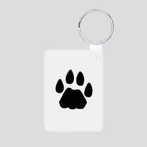 Cat Tracks Jewelry Aluminum Photo Keychain