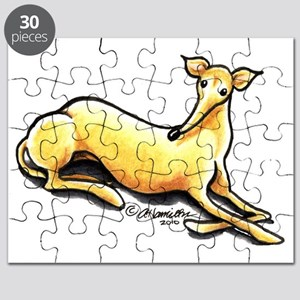 Fawn Greyhound Drawing Puzzle