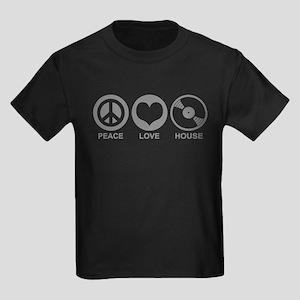 Peace Love House Kids Dark T-Shirt
