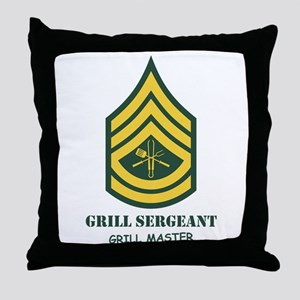 Grill Sgt. Throw Pillow