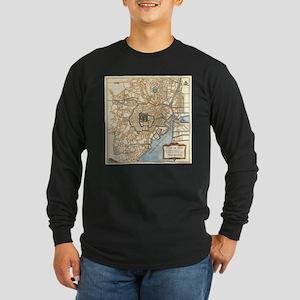 Vintage Map of Tokyo Japan (17 Long Sleeve T-Shirt