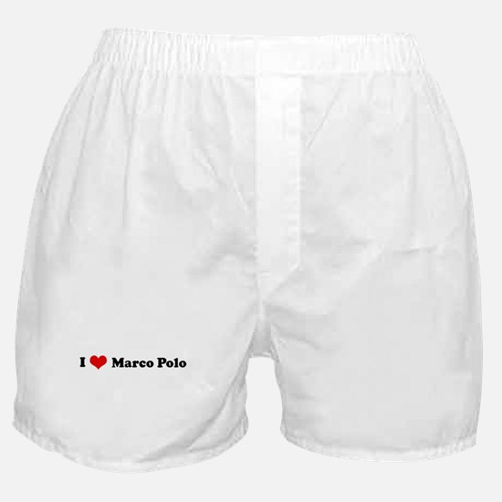 I Love Marco Polo Boxer Shorts