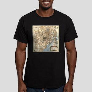 Vintage Map of Tokyo Japan (1752) T-Shirt