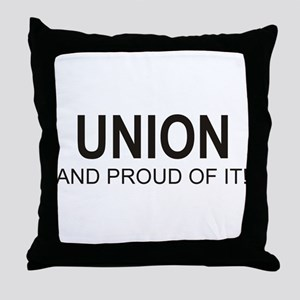 Proud Union Throw Pillow
