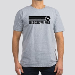 This Is How I Roll Vinyl Men's Fitted T-Shirt (dar