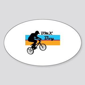 BMX Boy Sticker (Oval)