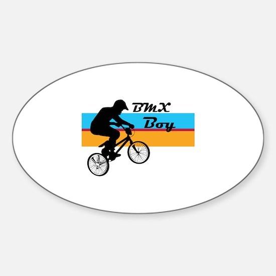 BMX Boy Sticker (Oval)