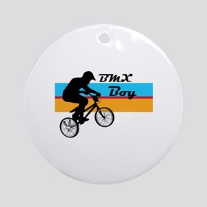 BMX Boy Ornament (Round)