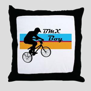 BMX Boy Throw Pillow