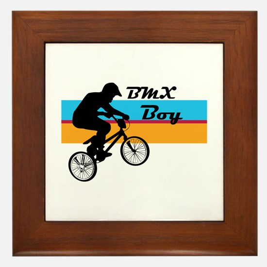 BMX Boy Framed Tile