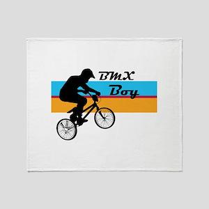 BMX Boy Throw Blanket
