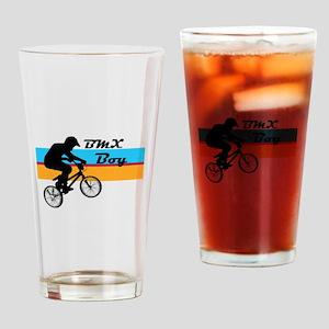BMX Boy Drinking Glass