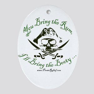 Booty & Rum Ornament (Oval)