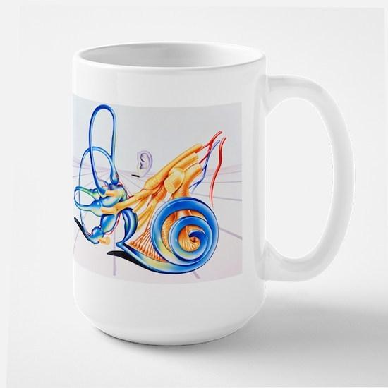 Artwork of inner ear Stainless Steel Travel Mugs