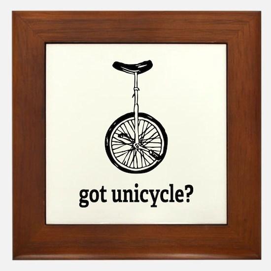 Got unicycle? Framed Tile