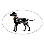 Christmas or Holiday Dalmatian Silhouette Sticker