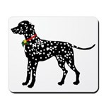 Christmas or Holiday Dalmatian Silhouette Mousepad