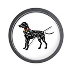 Christmas or Holiday Dalmatian Silhouette Wall Clo