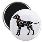 Christmas or Holiday Dalmatian Silhouette Magnet