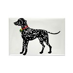 Christmas or Holiday Dalmatian Silhouette Rectangl