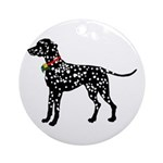 Christmas or Holiday Dalmatian Silhouette Ornament