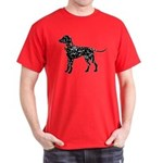 Christmas or Holiday Dalmatian Silhouette Dark T-S