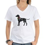 Christmas or Holiday Dalmatian Silhouette Women's