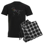 Christmas or Holiday Dalmatian Silhouette Men's Da