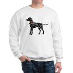 Christmas or Holiday Dalmatian Silhouette Sweatshi