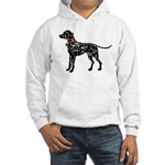 Christmas or Holiday Dalmatian Silhouette Hooded S