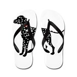 Christmas or Holiday Dalmatian Silhouette Flip Flo