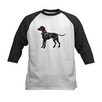Christmas or Holiday Dalmatian Silhouette Kids Bas