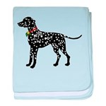 Christmas or Holiday Dalmatian Silhouette baby bla