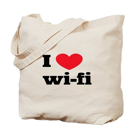 i love wi-fi Tote Bag