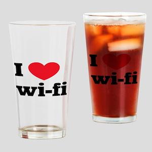 i love wi-fi Drinking Glass