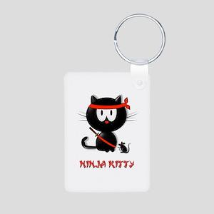 ninja kitty Aluminum Photo Keychain
