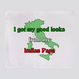 Italian Papa Throw Blanket