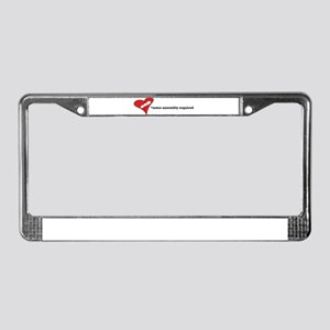 Red Heart Artsy License Plate Frame