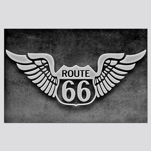 Route 66 Wings Large Poster