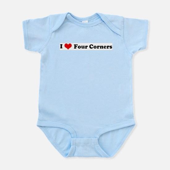 I Love Four Corners Infant Creeper