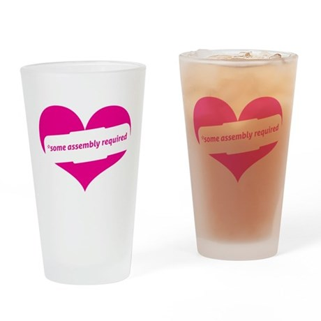Red Heart Contemporary Drinking Glass