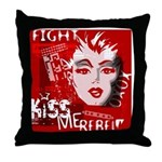Kiss Me Rebel! Throw Pillow